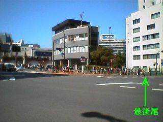 09:15 頃の万世橋交差点の様子
